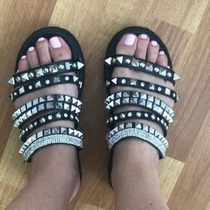 Gorgeous studded sandals